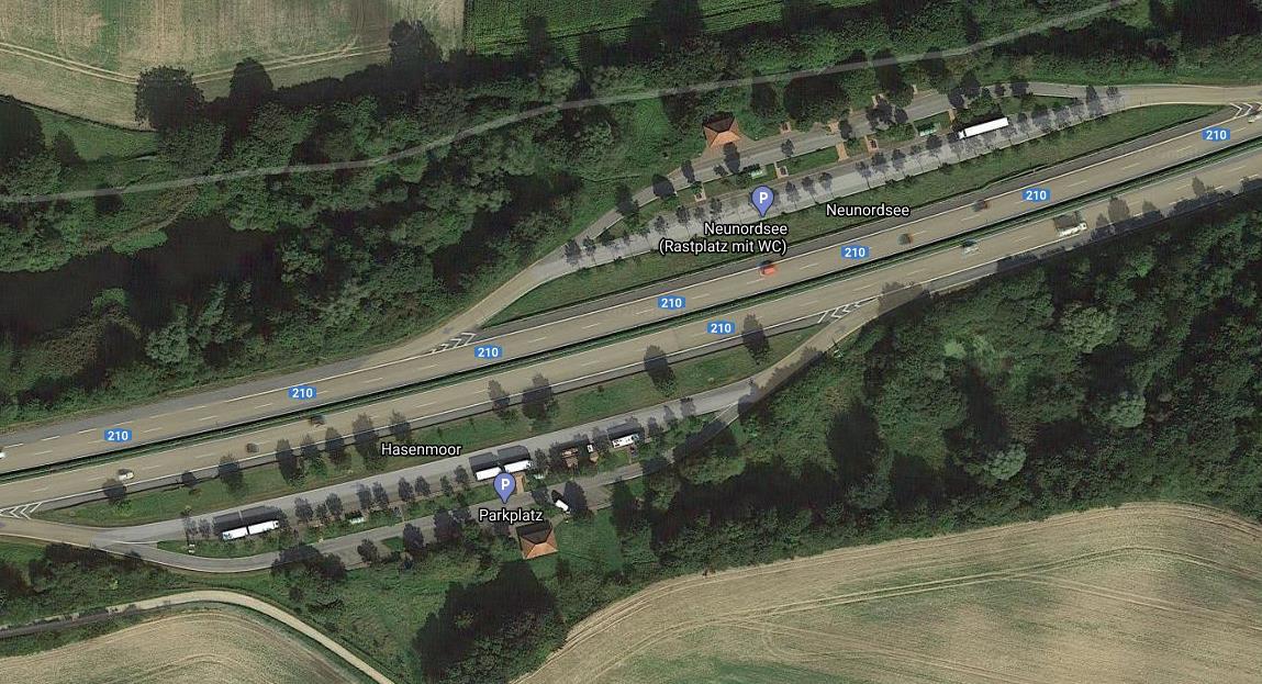 Parkplatz Hasenmoor Bredenbek an der A210