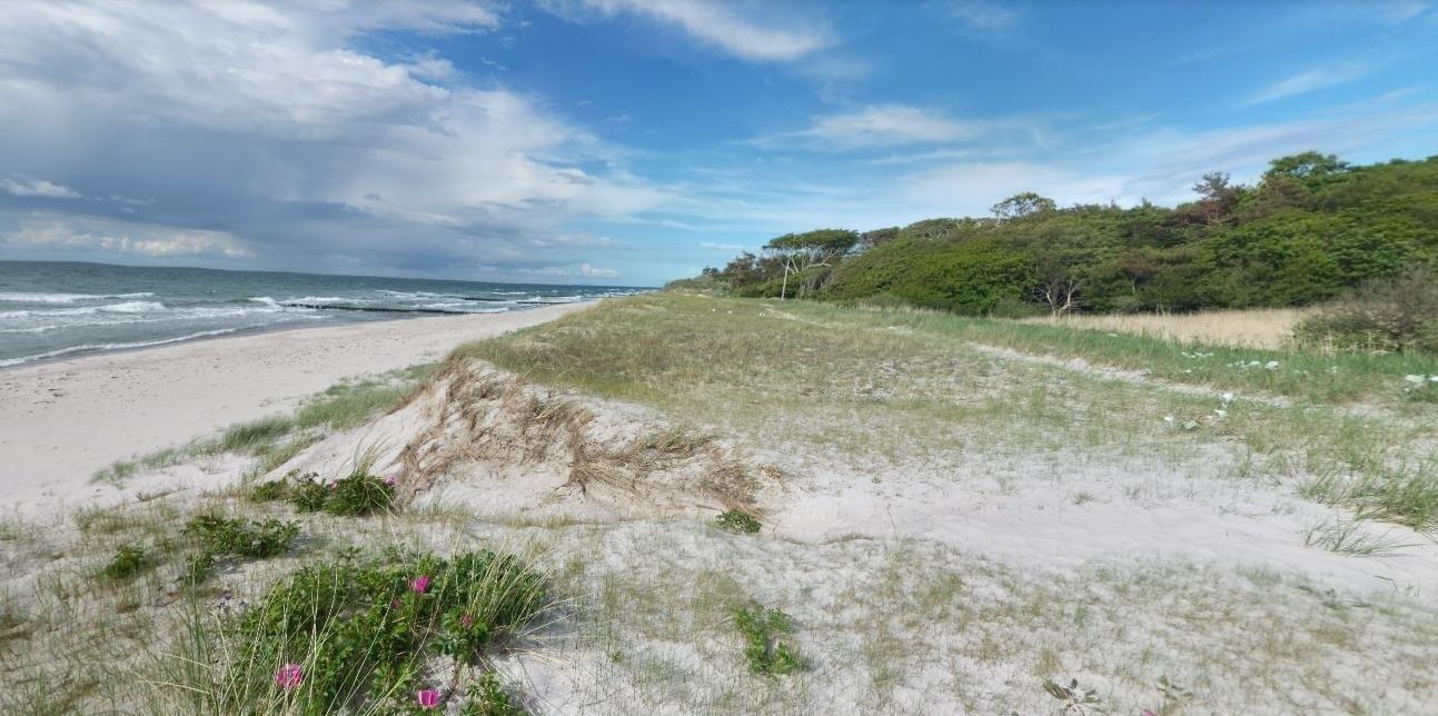 Der Strand an der Markgrafenheide bei Rosenort