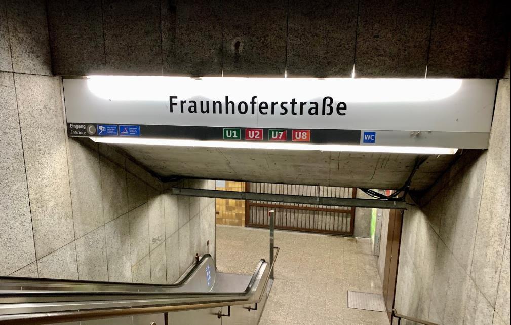 U-Bahn Frauenhoferstraße