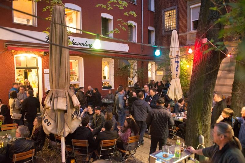 Die Palais Schaumburg Gaststätte eine Gay Bar in Nürnburg