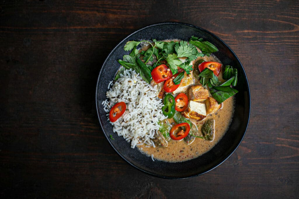 Rezept Idee Nr. 2: Rotes Thai Curry (Achtung, scharf!)